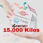 Image for the Tweet beginning: 1 canción, 1 kilo… ¡15.000