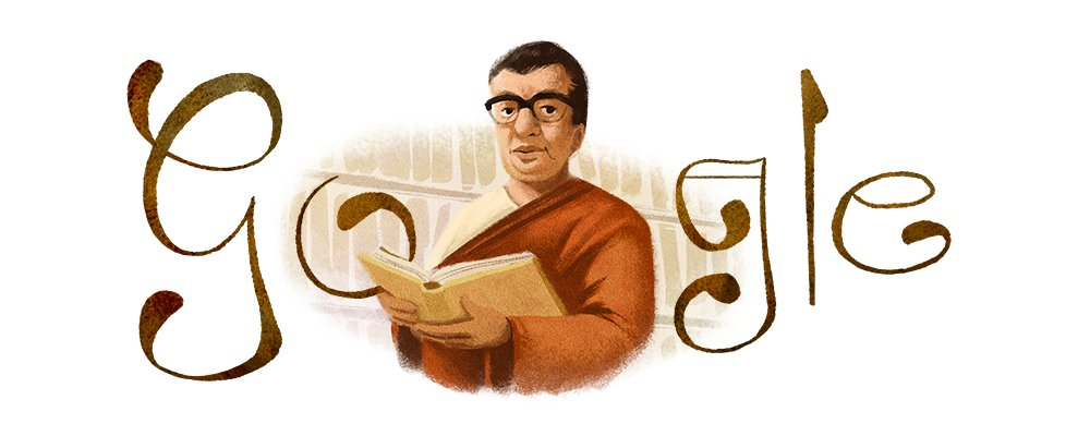 A Bangladeshi playwright, educator, linguist, literary critic, stage actor & political activist—Munier Chowdhury used his talents to uplift the Bangla language and fight against repression 🇧🇩  #GoogleDoodle →