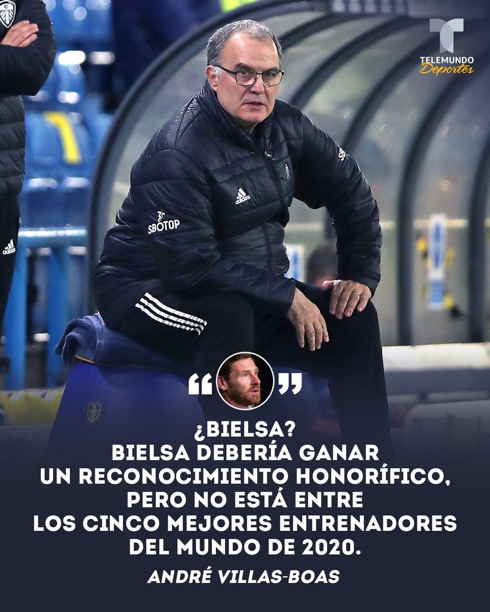 🤯 ¡Explota contra #TheBest!  😤 El DT de @OM_Officiel, André Villas-Boas, no se explica por qué Bielsa figura en la lista del mejor entrenador del 2020 y no Thomas Tuchel.  😬 ¿Fue bien o mal merecida la nominación del 'El Loco'?