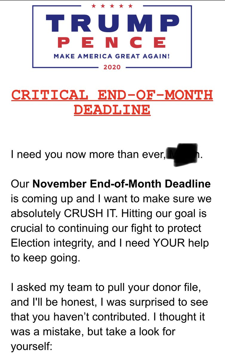 I keep getting these from our lame duck, President of the United States. I got these 3 in the last 4 hours. He's raising money for an already failed appeal effort. But hey, grifters gotta grift. #TrumpTantrum #TrumpIsACriminal #Trump #fridaymorning #BidenCheated? He didn't dummy.