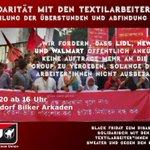 Image for the Tweet beginning: Solidarität mit den Textilarbeiterinnen.  #UnitedAgainstTheDragon