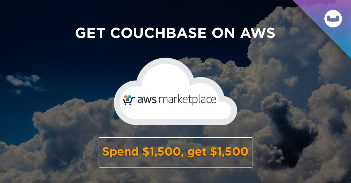 Did you know that if you purchase $1,500 or more prepaid #Couchbase #Cloud Credits via the @awscloud Marketplace now through December 31, 2020, you'll receive an #AWS Infrastructure-as-a-Service (#IaaS) credit worth $1,500? https://t.co/6N2EzTmDb3 https://t.co/xJ8N9o1T4Z