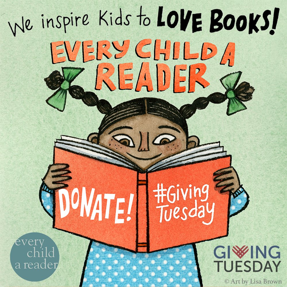 #EveryChildaReader provides educators, parents, booksellers, and librarians free materials and programs to inspire a love of reading. Join us by donating up until #GivingTuesday and your gift will be DOUBLED. Donate here:  #reading #kidlit #homeschool