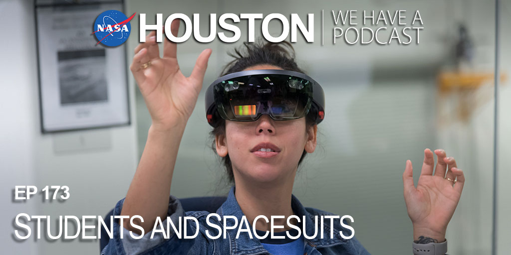 "Think you can design the heads-up display for future spacesuits? Learn more about the NASA SUITS program and how students and teachers can be part of this incredible opportunity on this week's ""Houston We Have A Podcast."" https://t.co/yfH9wZ4KQ8"