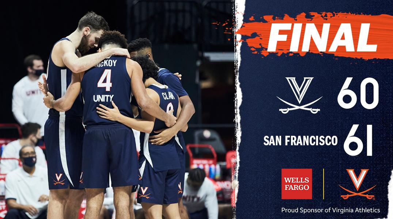 FINAL: Virginia falls short, 61-60, to San Francisco.   🔶⚔️🔷 #GoHoos