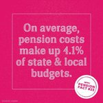 Image for the Tweet beginning: Public pensions, on average, make