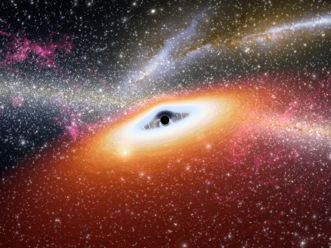 #BlackHoleFriday Our retired Spitzer mission found 2 of the most distant black holes ever found. These supermassive black holes are quasars. Their light traveled 13B yrs to reach Earth, which means they formed less than 1B yrs after the birth of the universe.