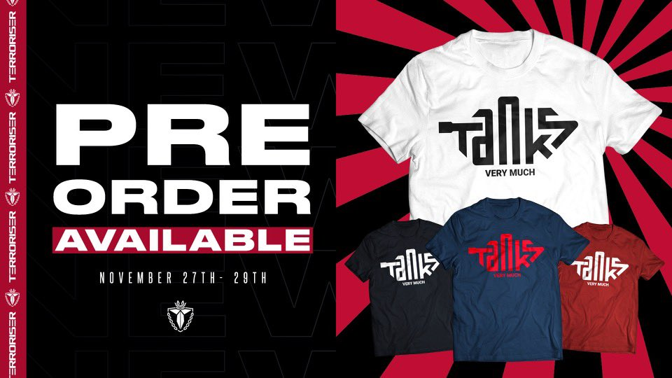 Terroriser - The new merch is HERE for preorder!  Get your order in before midnight Sunday. Come Monday it's gone for good!  TANKS FOR THE SUPPORT GUYS 🥰