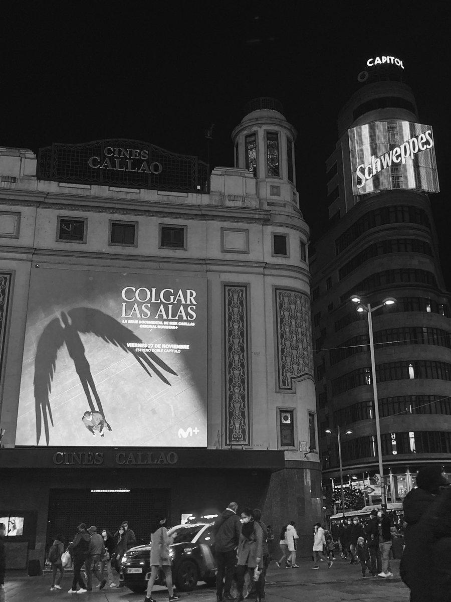 Hoy a las 22h se estrena #ColgarLasAlas en @MovistarPlus! Espero que os guste 😃