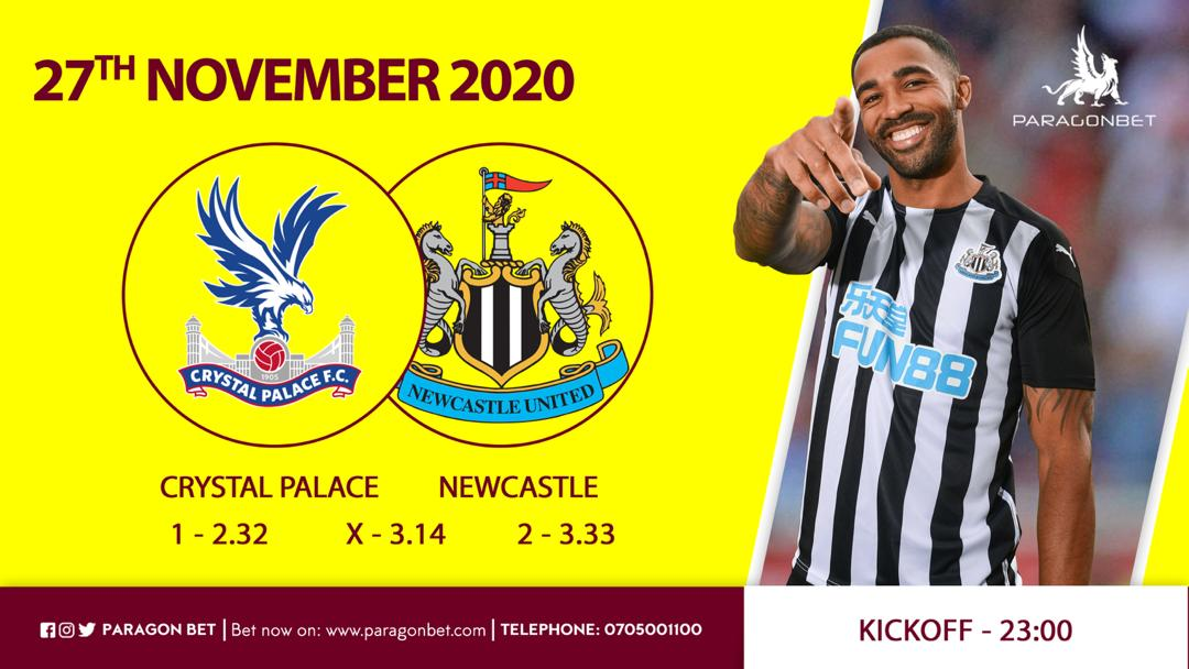Premier League🏆 Crystal Palace vs Newcastle Utd At 11pm.  The Magpies face Palace on the back of losing to Chelsea at home.  On the other hand the Eagles  without Zaha will also be looking forward to get back to winning ways after that Burnley defeat.  Bet with #ParagonBet https://t.co/BpsvJT5wnB