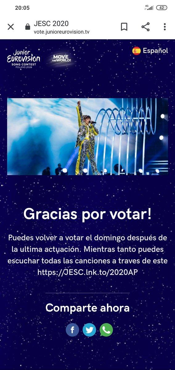 Yo ya he votado.... Espero que tú también 😌  #YoVotoASolea  #vamosespaña