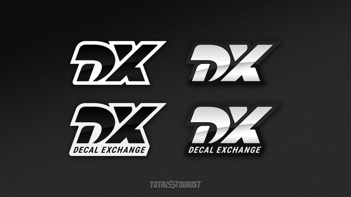 DX Logo | Updated decal set  Avoiding copyright issues right here https://t.co/0zBgKB9Zvj  #GTSport #GTSLivery #GTSDecals #liverydesign #DecalXchange https://t.co/8Y7MBMwmmh