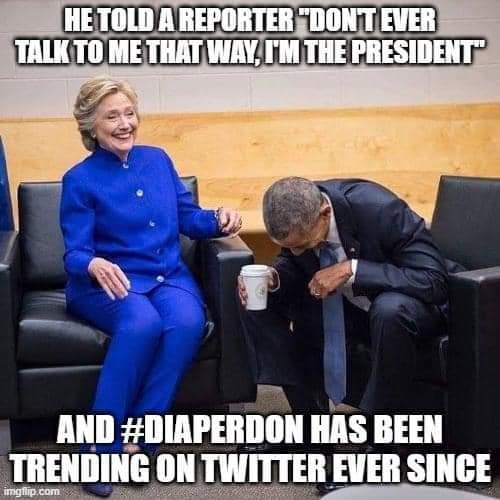 @realDonaldTrump #DiaperDon