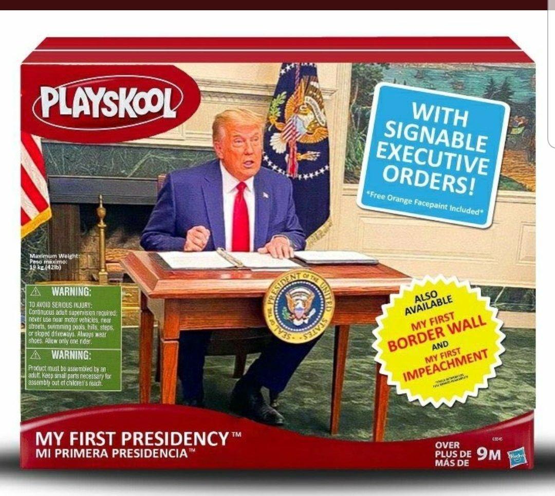 @KfortheUsa Meanwhile, #Diaperdon is rockin' his #TrumpTantrum at his #tinydesk, ending his #LameDuck presidency with a #TrumpMeltdown.❄