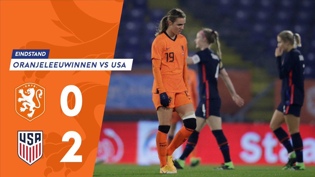 Afgelopen. USA is opnieuw met 0-2 te sterk.   #NEDUSA