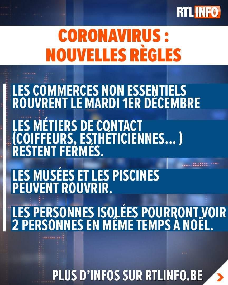 Le Premier ministre Alexander De Croo a annoncé les mesures prises lors d'une conférence de presse. #coronavirus #belgium #belgique #covid_19  Plus d'info sur :  https://t.co/CBdgF3OIyU https://t.co/CxlKLUJfp2