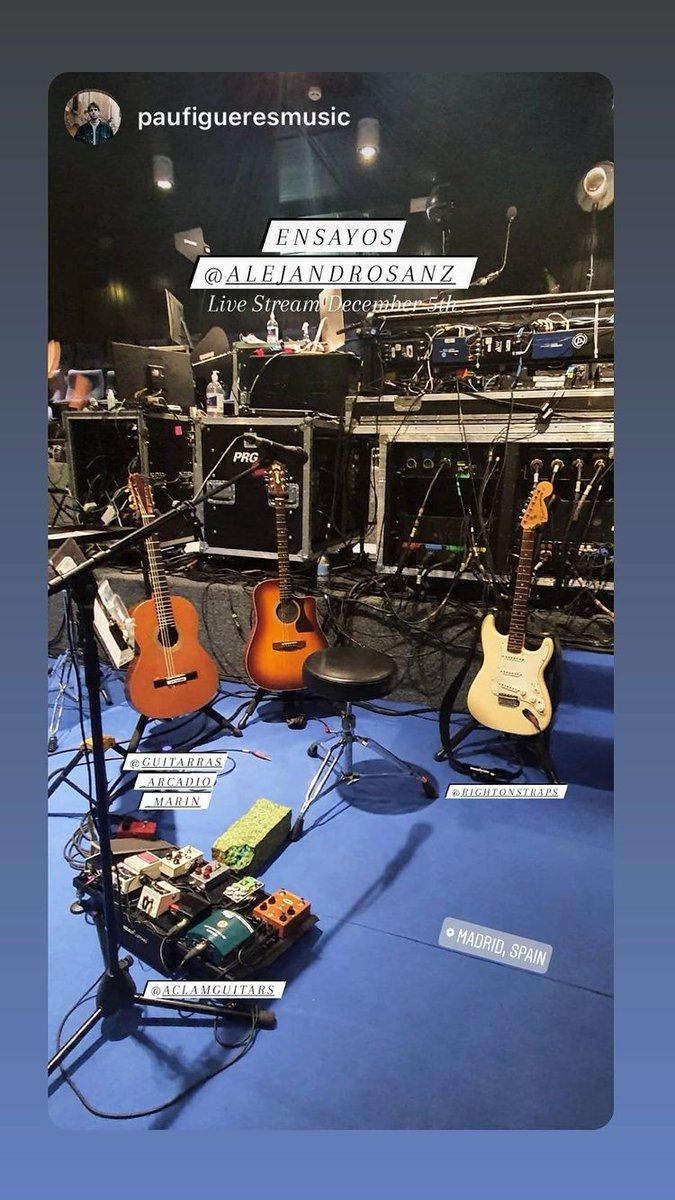 Alejandro y su banda ya están con los preparativos para el concierto del día 5 de diciembre 👏👏👏  #Story #PauFigueresMusic #Ensayos #AlejandroSanz #LiveStreamASanz #Madrid #AquenomeSueñas