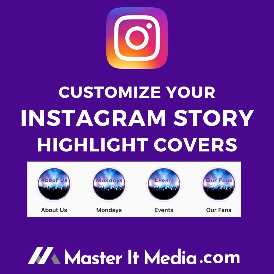 Did you know you can customize your #Instagram story highlight covers with branded images? Check out our recent 5 minute 📽️#YouTube Video explaining the simple steps you can take! 👇👇👇👇👇    While you are there ~ please click the subscribe button!