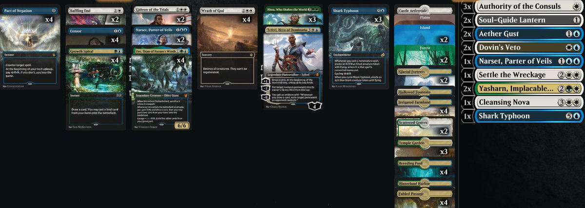 crokeyz - 11-3 with Bant Control today to rank 15, Pact of Negation is nuts!  Decklist: