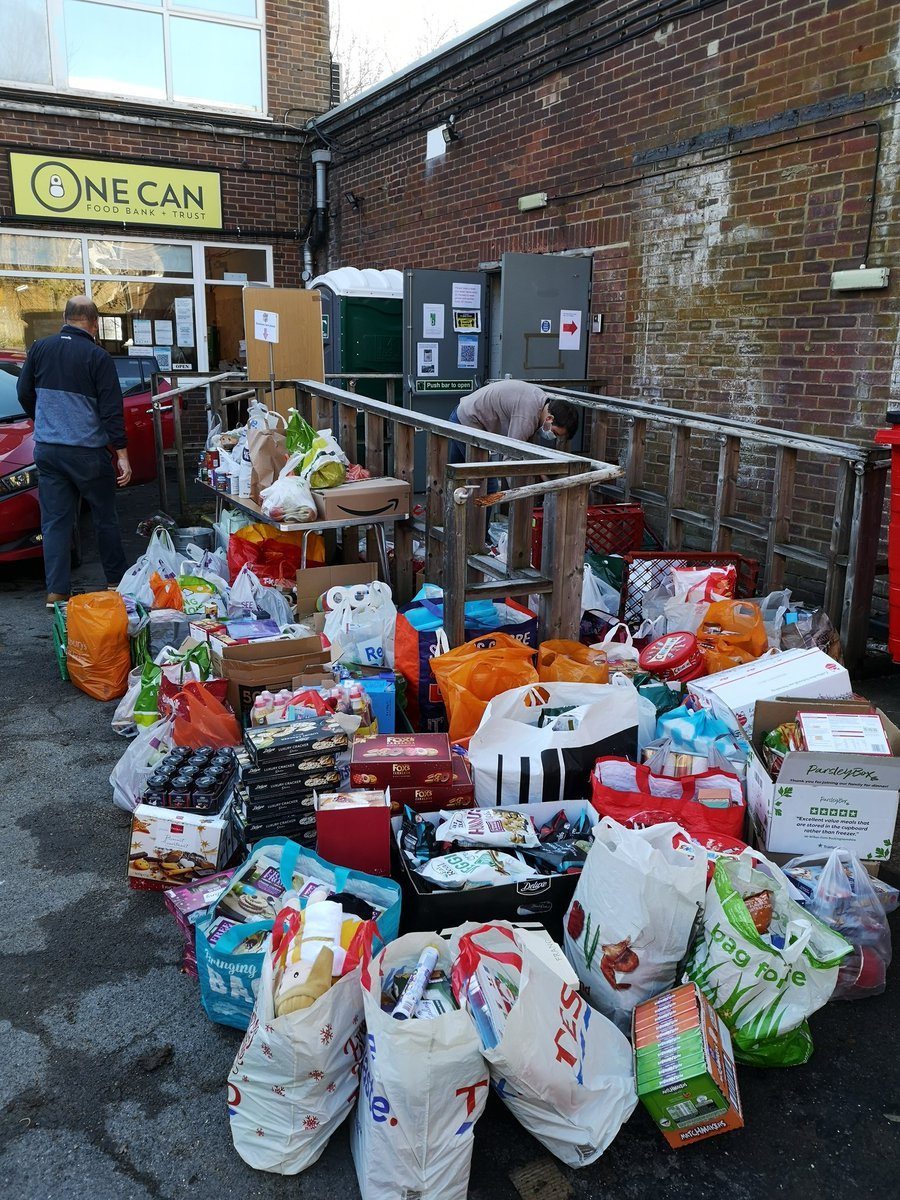 The donations today just kept coming and coming. As fast as we carried bags in, more appeared 😍 Our local community did us proud. A million thank you's to each and every one of you who have made it possible to brighten someone's Christmas. #TogetherWeCan #community