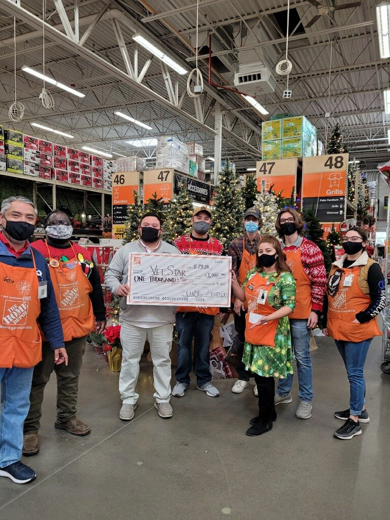 Operation Surprise is in the books! We are so honored to be able to help out VetStar with a grant! #homedepotvets #veteransday #6827strong #donate @Fuerstenberg15 @davidwilsonlbk @BoydBoydr @DaveRebtoy