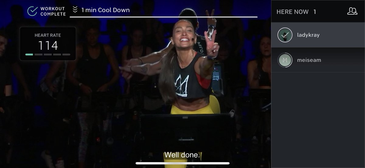 Promise this my mood forever. #workoutdone @onepeloton