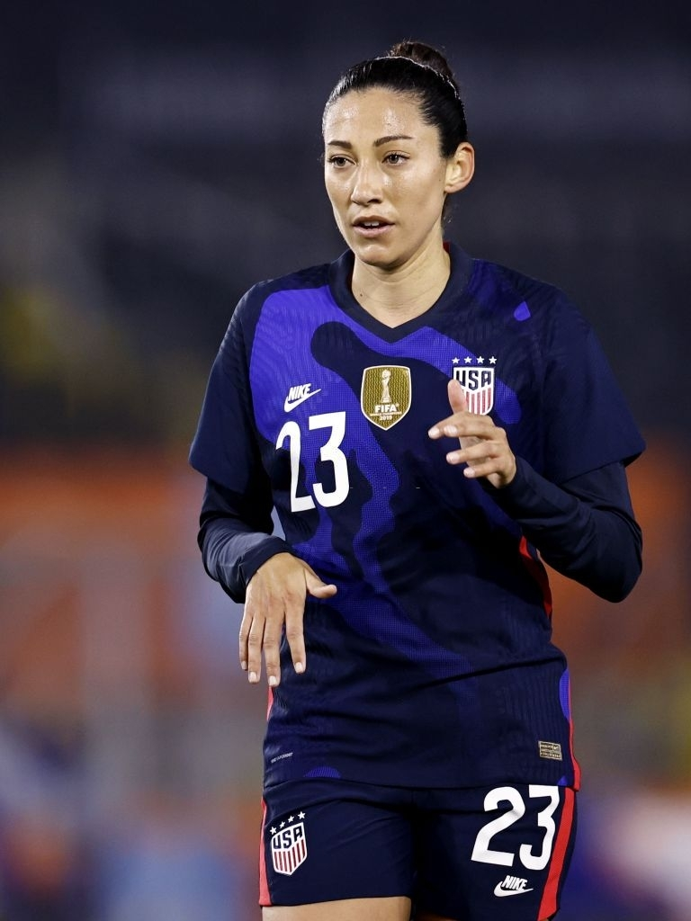 Christen Press' game by numbers vs Netherlands Women:  Total Shots - 2 Shot on Target - 1 Chances Created - 2 Assist - 1  #MUWomen #USWNT #NEDUSA