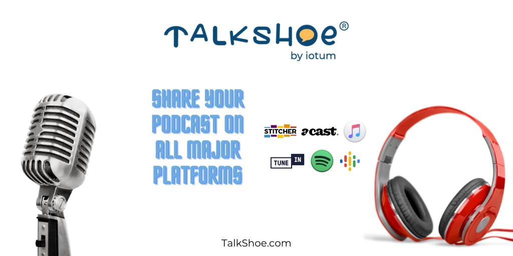 RSS feeds allow your podcast to be shared across multiple channels with a simple code that TalkShoe provides you with. No technical skills required! Sign up for your #FREE account at https://t.co/fICpC6xxqp.  #podcasting #podcast #podcaster #podcastaddict #podcastlife #recording https://t.co/5a7ZC2Onbx