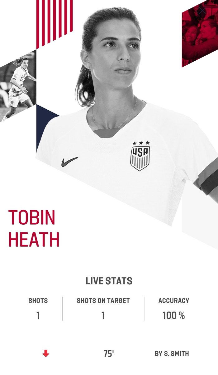 My gurl has 100% passing accuracy 👏👏👏 she's leading the team to do pressing. Killing the flank with Crystal Dunn. And also playing as Forward, Midfield and Defense 😤✊ Tobin Heath is the beast .. She's top of her game after the covid break 💅💅 #USWNT #TobinHeath