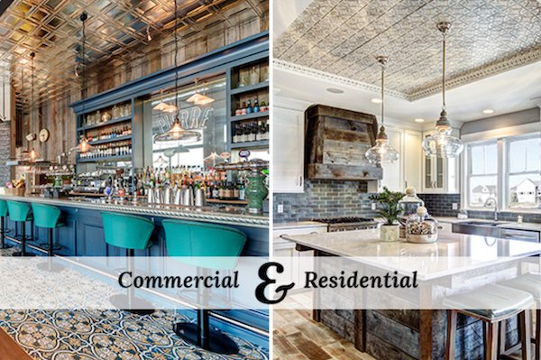 🏡🛠️Renovating your home or business? Pressed metal tin ceiling tiles add architectural interest in any space! @abingdon_ny See more design ideas on our website at  Great for #backsplash #kitchens #Walls #porches #Brooklyn #NYC #LongIsland to #NewJersey
