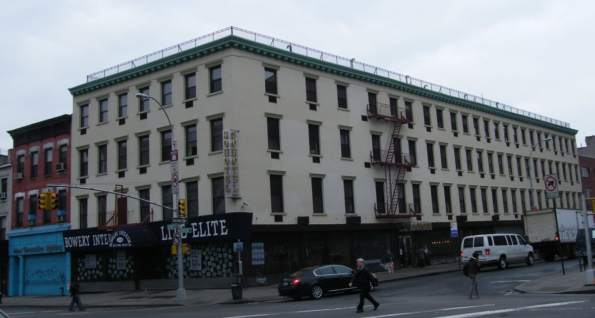 A historic part of #NYC: Westchester House — Going by a variety of names over the years, the corner at Bowery and Broome has been home to a hotel at least as far back as 1805, with parts of the current building dating to around 1840