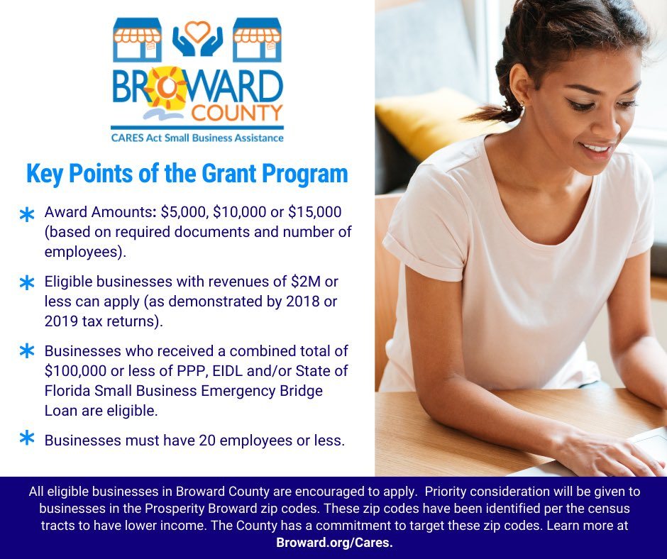 Need financial assistance for your business? Visit https://t.co/KkOgBMRu9U to learn about the County's Small Business and Non-Profit Grant Programs. DEADLINE to apply is WEDNESDAY, December 2nd at 10PM! #BrowardCares #SmallBusiness  #nonprofit https://t.co/8Lqit6zvSS