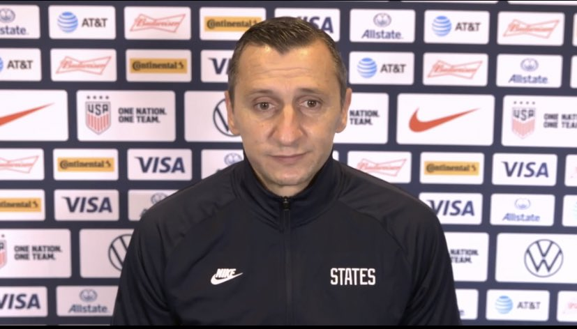 """2020 has been a tough year. A lot of things have changed this year but one thing that hasn't is the heart of this team"" - Coach Vlatko on his @USWNT performance after 8 months of no games or normal training circumstances. ##USWNT"