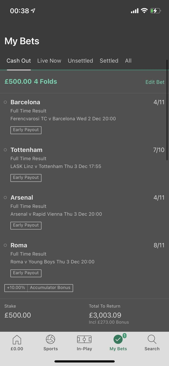 Pray for me lads #bet365 #tottenham #arsenal #roma #EuropaLeague #ChampionsLeague