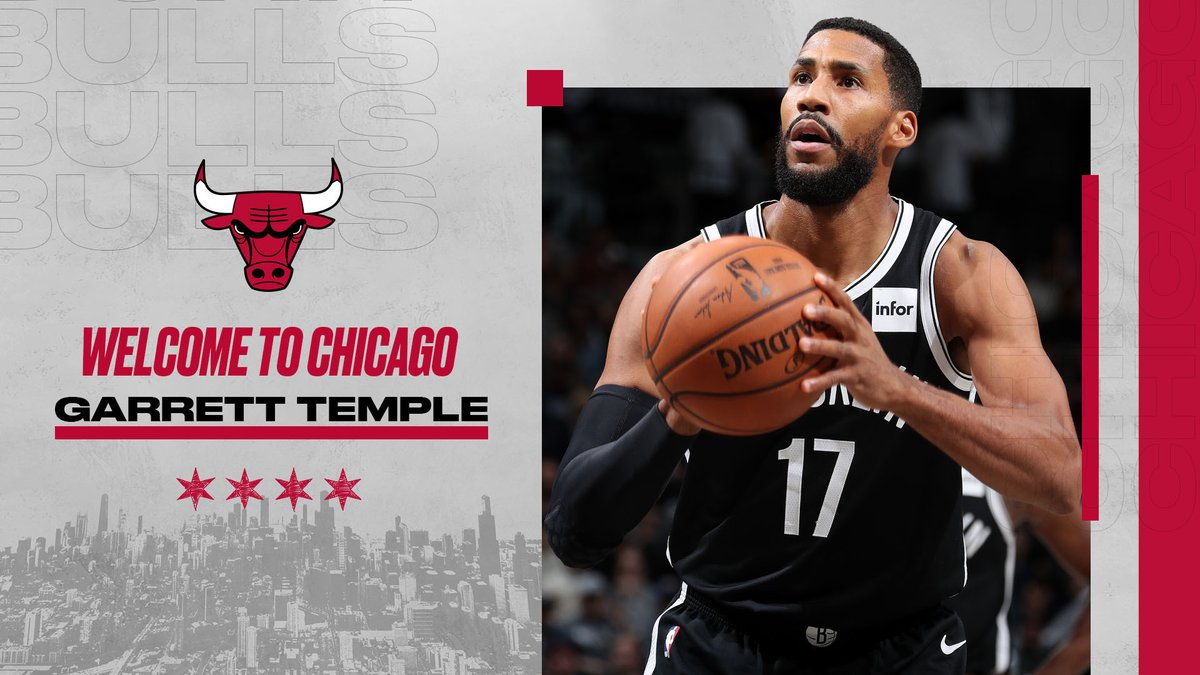 We have signed guard Garrett Temple.  Welcome to Chicago, Garrett!