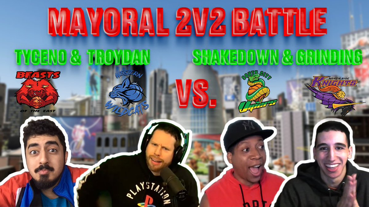 It's time! Bragging rights in The City!Winning 2 mayors will get to customize their affiliations courts! @TheRealTyceno @Troydan @ShakeDown2012 @SiimplyGrinding 🎥