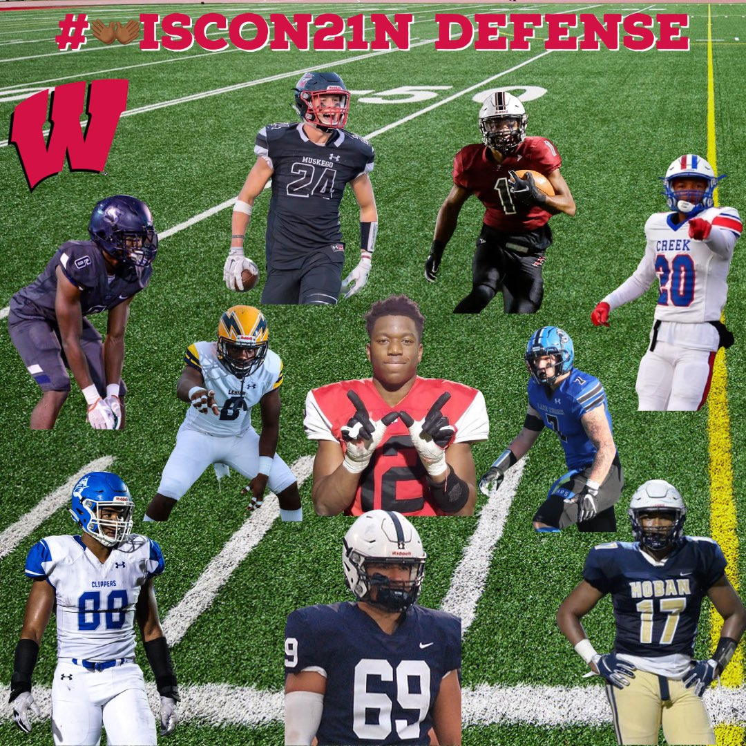 The future is BRIGHT in #Madison - @BadgerFootball has some dawgs coming in on the defensive side of the ball. @CoachKhalif, @CoachGebhardt and the rest of the staff killing it on the trail #OnWisconsin https://t.co/SgApANwAbW