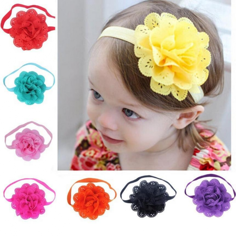 #smile #newborn 8 Pieces Flower Headbands