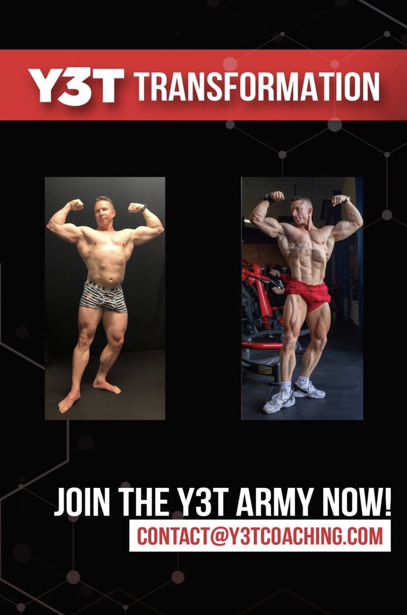 Go check out @Neil_yoda_Hill the legend coach of champions and my coach that prepared me for Olympia. #transformation #y3tarmy #y3tathlete #bodybuilder #bodybuilding #muscle #fitness #aesthetic #classicphysique #fitguy #physique #coach