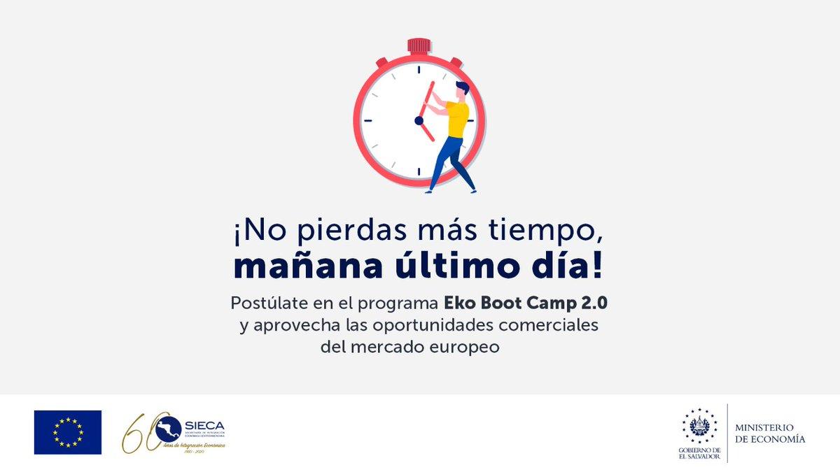 Mañana, último día para poder aplicar al Programa de aceleración de exportaciones #EkoBootCamp 2.0.  No pierdas esta oportunidad de recibir asistencia técnica especializada y apoyo para exportar al mercado de la Unión Europea.   Más información: https://t.co/JqoV6xMjRG https://t.co/YDg9SQzBKW