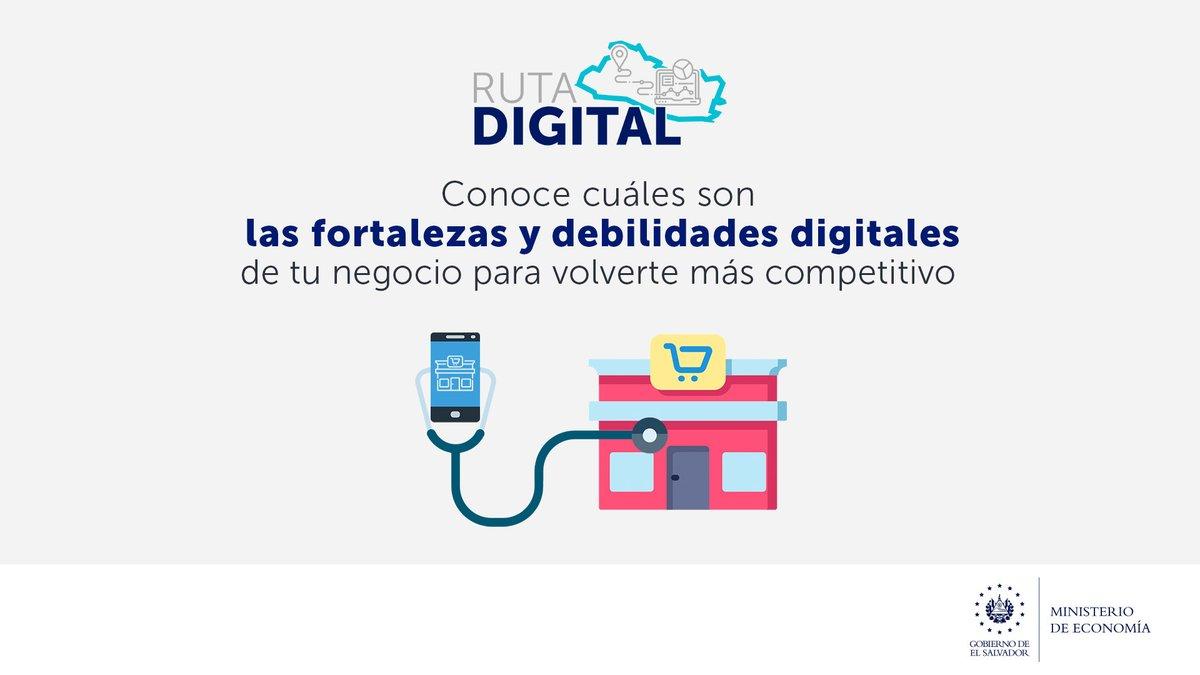 ¿Sabes qué tan digital es tu #MIPYME? Descúbrelo con nuestra #RutaDigital, con ella podrás evaluar qué tanto aprovechas las tecnologías en tu producción y ventas. Esto te permitirá atender las nuevas demandas del mercado.  Hazlo aquí: https://t.co/54JlstIZNt. https://t.co/jnf48mjP7D