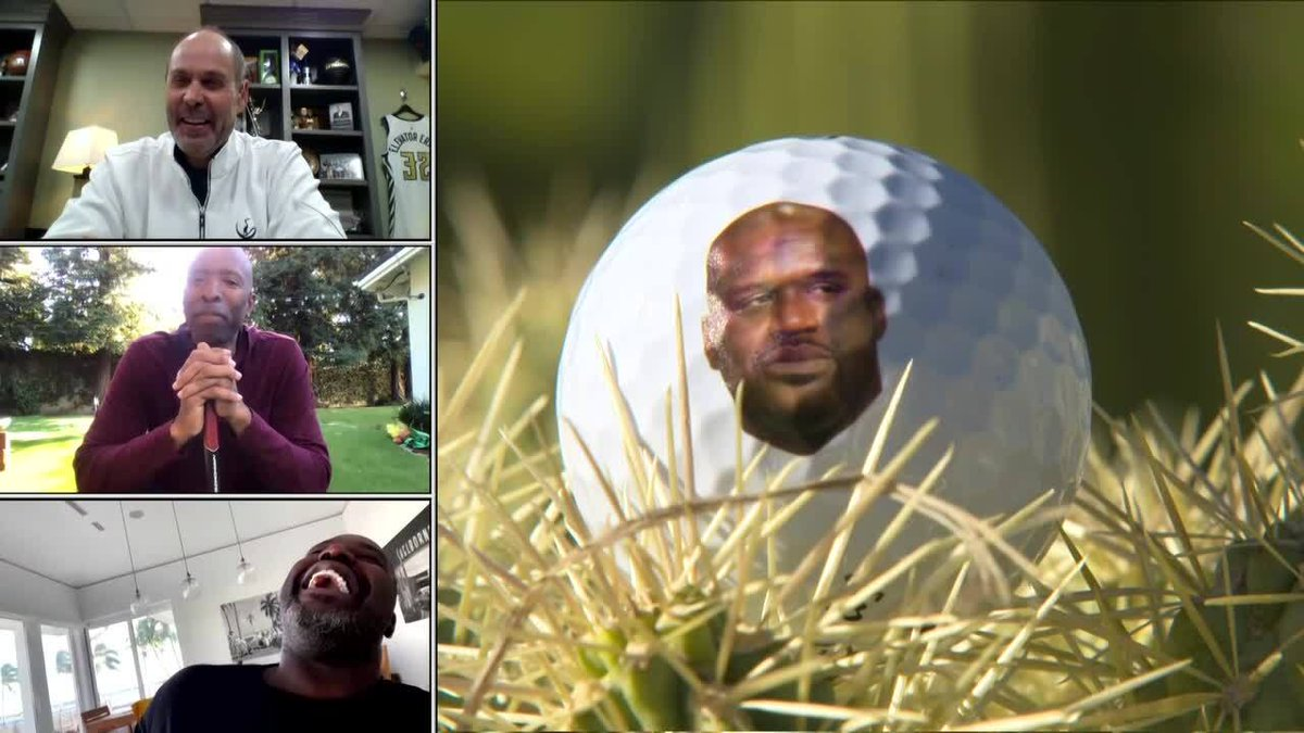 They really put Shaq's face on Chuck's golf balls 😂  Watch #CapitalOnesTheMatch NOW on TNT and in the B/R app