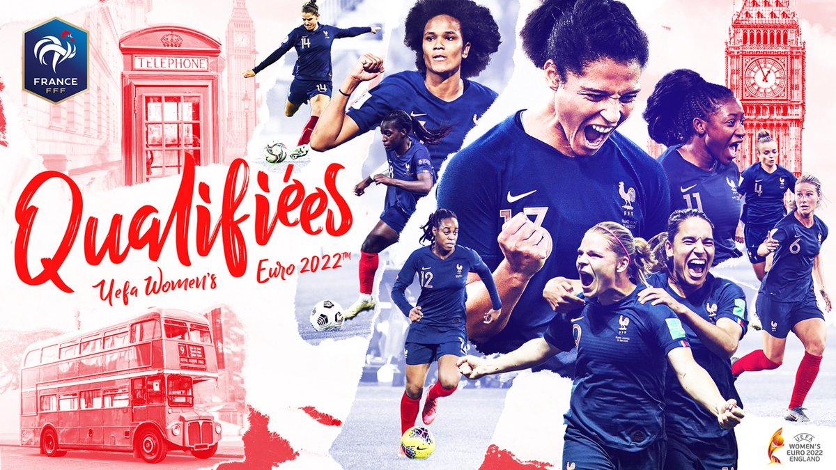 ✅ Victoire 3-0 contre l'Autriche #FRAAUT 🔒 1ères du groupe 👊 Qualifiées pour l'UEFA EURO 2022 🇫🇷 #FiersdetreBleues