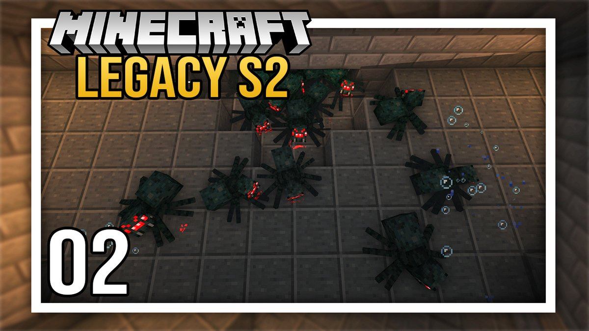 NashCrafter - ⭐️ built a little spooder farm on the Legacy server! It's time to get those little green balls rolling!  Also the struggle WAS REAL this episode haha you don't wanna miss that!   --->