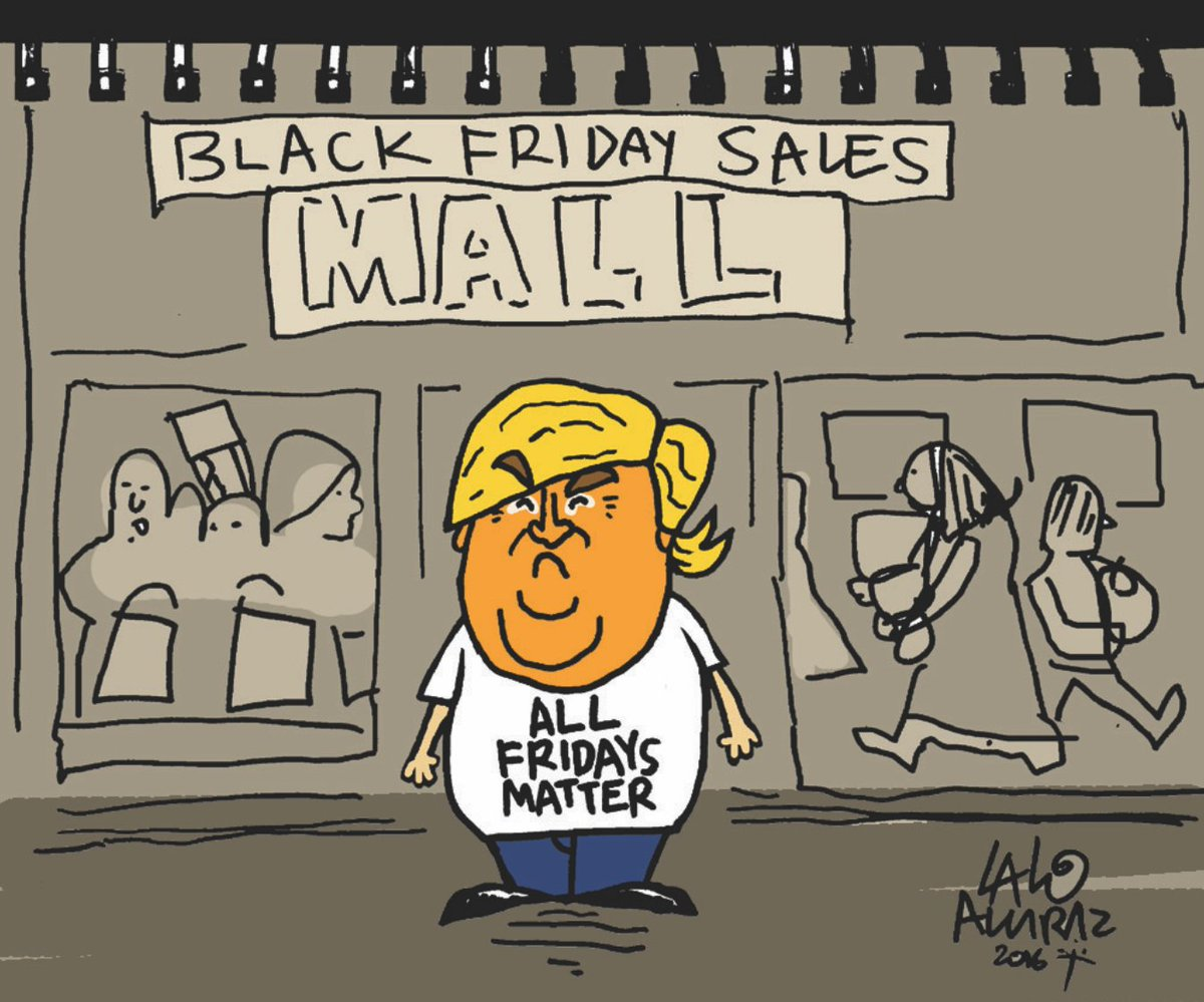 Black Friday. Please share #laloalcaraz cartoons