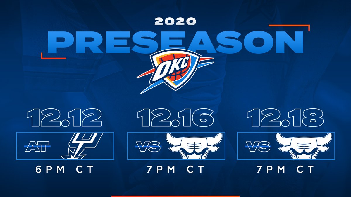 Thunder Announces 2020 Preseason Schedule.  🔗   https://t.co/6j2G46GfZs https://t.co/lQlRfPlYF7