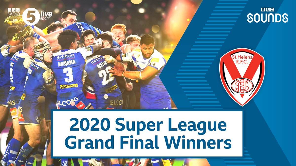 WOW! Theyve done it in the most dramatic fashion 🤯🏉 St Helens have won their seventh Super League #GrandFinal 👏 🏆 2020 🏆 2019 🏆 2014 🏆 2006 🏆 2002 🏆 2000 🏆 1999 FT: Wigan Warriors 4-8 St Helens Reaction 👇 📻: bbc.in/2JfA2ca #bbcrugby