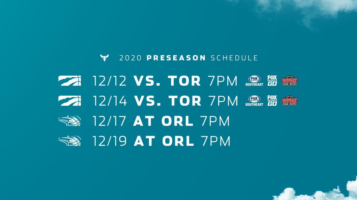We've got a preseason schedule, Buzz City! 😍  🔗: