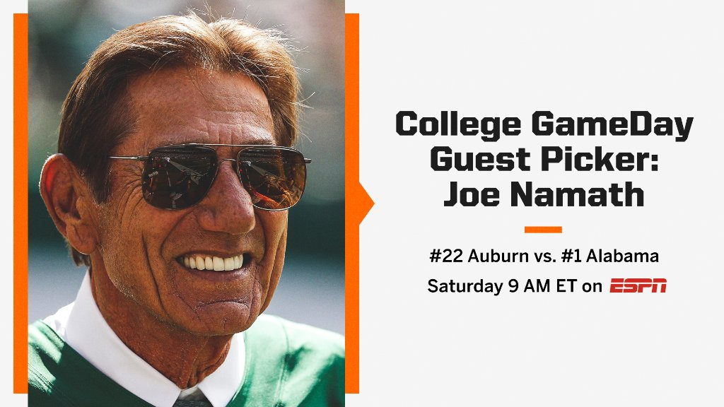 It wouldnt be a show in Tuscaloosa without Broadway Joe 🤩 The former Bama QB will be there for the picks!