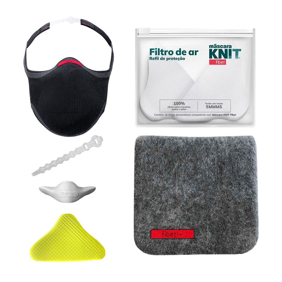 Conte com a Máscara KNIT Fiber para sentir-se bem em todos os momentos. Com encaixe perfeito no rosto, mais segurança e respirabilidade, o kit completo Máscara KNIT Fiber, que acompanha acessórios e estojo, vai ser o seu melhor aliado.  Acesse:
